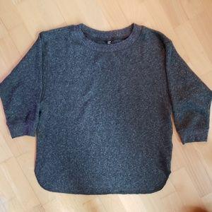 Uniqlo - Grey Knit Short Sleeve T-Shirt